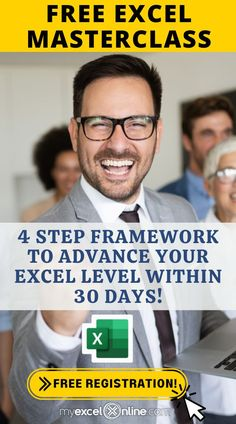 STRESSED from working OVERTIME to finish reports on time? New job interview around the corner? In my FREE Excel webinar masterclass, I'm going to teach you: 🥇 The #1 SECRET to quickly ADVANCING your Excel skills 🛑 The top 3 mistakes EVERYBODY makes when using Excel and why they're STOPPING you from ADVANCING your Excel level ⏱ My 4 step framework for UPLEVELING your Excel skills, which will SAVE YOU HOURS each day! Free Registration (limited seats) 👈 See you in this Masterclass! Excel Cheat Sheet, Accounting Basics, Excel Hacks, Excel Budget Template, Medical Coder, Fun Fall Activities, Technology Hacks, Working Overtime, Writing A Business Plan