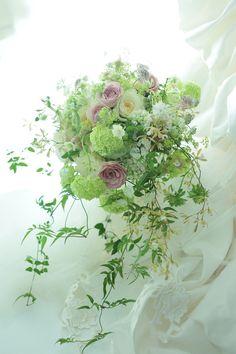 ナチュラルクラッチブーケ 軽井沢へ 一会風、四国から : 一会 ウエディングの花