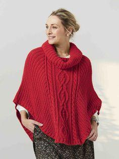 ponchos tejidos a palitos con cuello alto Crochet Ideas, Turtle Neck, Pullover, Sweaters, Fashion, High Collar, Shawl, Moda, Fashion Styles