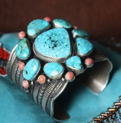 Love this  turquoise bracelet -- www.blucats.com  - market for arts and crafts