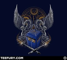 Probably the coolest looking Doctro Who shirt design I've seen! Teefury Dr Doctor Who Timelord & Proud Tshirt Men's & Women's Don't Blink, Bad Wolf, Time Lords, Dr Who, Coat Of Arms, Movies Showing, Tardis, Doctor Who, Cool T Shirts