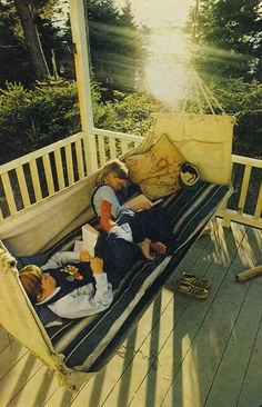 Every kid needs a porch swing