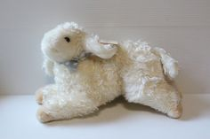 BABY GUND LAMB, Vintage plush white lamb, Gund Lambsalot, plush white baby gift,Vintage Baby Shower Gift,Collectible baby toy,retro baby toy by TheJellyJar on Etsy