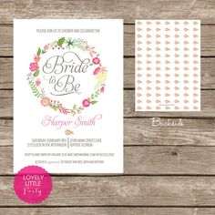 Harper Collection Floral  Bridal Shower by lovelylittleparty, $15.00