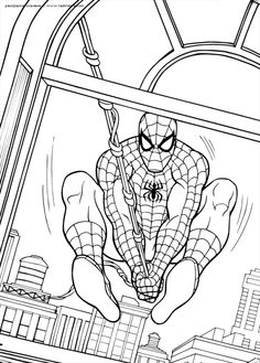 spiderman coloring pages preschool