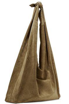 The Row   Bindle suede shoulder bag   NET-A-PORTER.COM