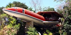 Sky high tine live that may not be all that time, from $500 a night, costaverde.com Location:Quepos, Costa Rica It may not be made out of wood on the outside, but this vintage1965 Boeing 727 was transformed into an amazing two-bedroom escape with beautiful views and all wood-finishedinteriors. Once you step outside, you have the beautiful Costa Rica beach to sunbatheor ride horses on. We almost forgot to tell you: Don't be surprised if you see monkeys throughout the day;&