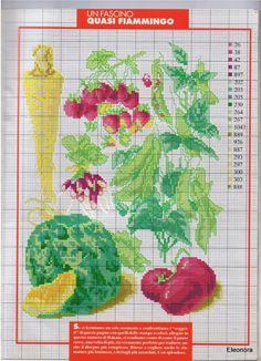 ♥Meus Gráficos De Ponto Cruz♥: Verduras e Legumes para Bordar Ponto Cruz