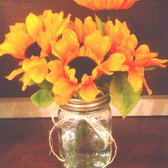 Picnic Centerpieces Ideas | Wedding Ideas / Sunflower country picnic bridal shower centerpieces