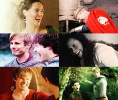 Merlin bloopers. I love Merlin bloopers because they are hilarious I love the cast so much