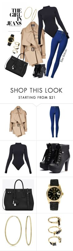 """""""Pretty Powerful"""" by rea-fashion on Polyvore featuring Burberry, Ivy Park, Yves Saint Laurent, Rolex, Bling Jewelry and Noir Jewelry"""