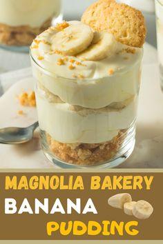 Magnolia Bakery Banana Pudding, Banana Pudding Desserts, Best Banana Pudding, Banana Dessert, Banana Recipes, Magnolia Banana Pudding Recipe, Bannana Pudding, Banana Pie Recipe, Jello Pudding Recipes