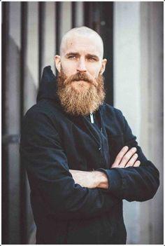 Shaved Head With Beard - 90 Beard Styles For Bald Men Bald Men With Beards, Bald With Beard, Beard Fade, Beard Look, Full Beard, Shaved Head With Beard, Short Hair With Beard, Beard Styles For Men, Hair And Beard Styles