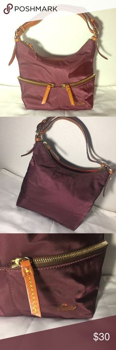 7947e3792401 ♻️BLK FRI SALE♻ Dooney & Bourke Nylon Hobo Bag Burgundy, nylon material