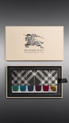 Burberry Autumn/Winter 2014 Nail Collection — The Dieline - Branding & Packaging Design