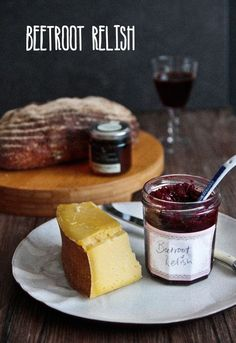 Beetroot relish, using baked beets.