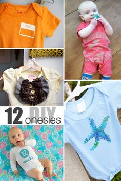 Adorable DIY baby onesies you can make. This would be a unique and fun gift idea!