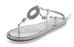 Fortuning's JDS Ladies' T-Strap slipper shoes glitter party rhinestone flat sandal * Read more reviews of the product by visiting the link on the image.