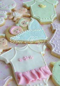 Lembrancinhas para Chá de Bebê de gêmeos: biscoitos decorados