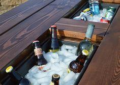 Zit je net lekker buiten, moet je alweer bier halen. Met onze tuintafel met bierkoeling kun je blijven zitten. En zo'n tuintafel maak je natuurlijk zelf
