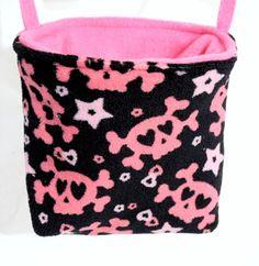 Pink Skulls Sugar Glider Rat CAGE POUCH