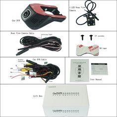 Car Wifi DVR For Subaru Forester Dual lens Car Driving Video Recorder hidden Installation parking registrator Car Black Box