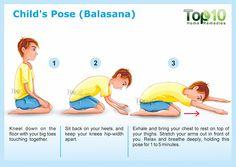 Child's Pose for yoga Balasana