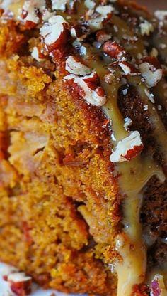 Holidays: Apple Pumpkin Cinnamon Vanilla Bundt Cake Apple Recipes, Pumpkin Recipes, Fall Recipes, Holiday Recipes, Cake Recipes For Thanksgiving, Apple Bundt Cake Recipes, Thanksgiving Baking, Pumpkin Ideas, Köstliche Desserts