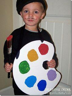 Disfressa de pintor el teje se puede hacer con casi cualquier color de bolsa de plástico | http://www.multipapel.com/familia-material-para-disfraces-maquillaje-bolsas-de-color.htm