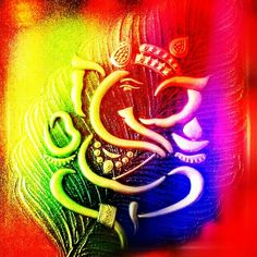 """Ganpati Bappa Moriya Ganesha - remover of all obstacles, the deity of intellect, wisdom, and new beginnings. Vakratunda Mahakaaya, Suryakoti Samaprabha Nirvighnam Kuru Mey Deva, Sarva Kaaryeshu Sarvada """"O Lord Ganesha who has a large body, curved trunk and brightness of a million suns, please remove all obstacles in my work always."""" May Bappa bless you and your loved one's with: a rainbow for every storm; a smile for every tear; a promise for every care; and an answer to your prayers. H"""