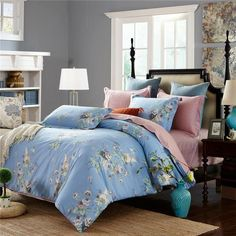 100% cotton flower tree bedding sets bed set twin queen king size bedclothes duvet cover for girl Beautiful teens