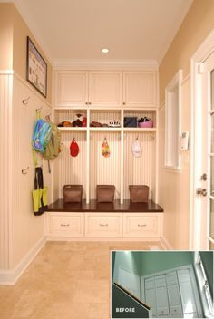 mudroom - nice transformation