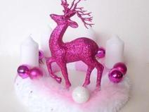 Adventskranz Think Pink