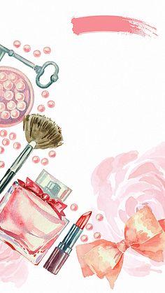Pintadas à mão Fundo cosméticos H5, Pintados à Mão, Cor - De - Rosa, Cosméticos, Imagem de fundo