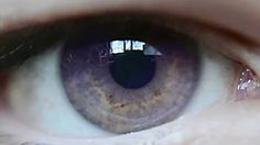 Slow motion natural purple eyes // Ojo violeta natural
