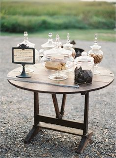 Elegant Smores Table! Smores are one of my favorite things in the world, and this would be great!