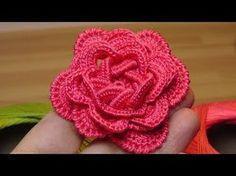 Как связать объёмную РОЗУ крючком - crochet flowers the roses - YouTube