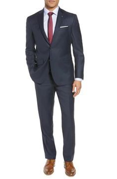 df3944166  750 Ted Baker London Trim Fit Navy Suit Size 40R Nordstroms NWD  fashion   clothing