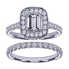 @Overstock - 14k Gold 2 2/5ct TDW Emerald-cut Diamond Bridal Ring Set (F-G, SI1-SI2)  - Emerald-cut white diamond bridal ring set14-karat white gold jewelryClick here for ring sizing guide    http://www.overstock.com/Jewelry-Watches/14k-Gold-2-2-5ct-TDW-Emerald-cut-Diamond-Bridal-Ring-Set-F-G-SI1-SI2/7900359/product.html?CID=214117  $3,699.99