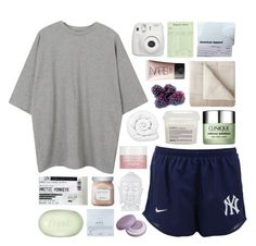 """""""we could be together baby ❁"""" by annamari-a ❤ liked on Polyvore featuring NIKE, American Apparel, NARS Cosmetics, Davines, Brinkhaus, Clinique, JCPenney Home, Fresh, Sisley Paris and Dogeared"""