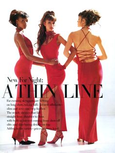 Beverly Peele, Susan Holmes and Claudia Mason by Arthur Elgort and Jenny Capitain. US Vogue sept 1992