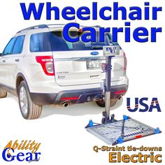 Ability Gear For Less - Wheechair Carrier - Hitch Mounted - Electric, $1,599.00 (http://www.abilitygearforless.com/wheechair-carrier-hitch-mounted-electric/)