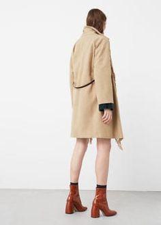 Παλτό μάλλινο με κρόσσια