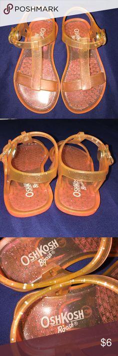 OshKosh B'Gosh Orange Glitter Jelly Sandal Size 6 OshKosh B'Gosh Orange Glitter Jelly Sandal Size 6 OshKosh B'gosh Shoes Sandals & Flip Flops