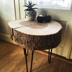 Træstub bord med