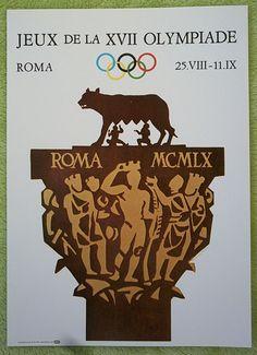 poster   Olympic Games ROM 1960 - Official Logo // 35 x 25 cm  !!  RARE  | eBay