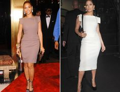 beyonce and jennifer in victoria beckham's dress Classy Lady, Classy Women, Dress Me Up, Victoria Beckham, Beyonce, Peplum Dress, Play, My Style, Red