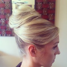 www.chicagostylelust.com high bun with crossed front pieces. Wedding hair styles. Wedding updo. Blonde hair style Bridal hair styles. bride or bridesmaid hair. Party or special occasion hair. Audrey Hepburn style