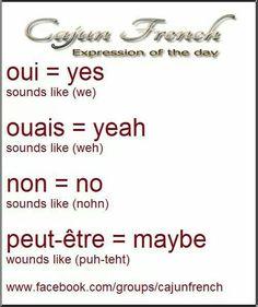 Louisiana Cajun French words