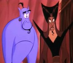 Aladdin Genie agape jaw drop